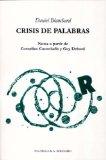 Portada de CRISIS DE PALABRAS