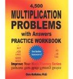 Portada de [(4,500 MULTIPLICATION PROBLEMS WITH ANSWERS PRACTICE WORKBOOK: IMPROVE YOUR MATH FLUENCY SERIES )] [AUTHOR: CHRIS MCMULLEN PH D] [DEC-2011]