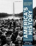 Portada de AMERICA'S HISTORY, VOLUME 2: SINCE 1865 7TH (SEVENTH) EDITION BY HENRETTA, JAMES A., EDWARDS, REBECCA, SELF, ROBERT O. (2011)