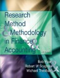 Portada de RESEARCH METHODS AND METHODOLOGY IN FINANCE AND ACCOUNTING BY BOB RYAN (2002-04-05)
