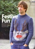 """Portada de FESTIVE FUN MEN'S CHRISTMAS REINDEER MOTIF SWEATER KNITTING PATTERN: TO FIT CHEST 36""""/38"""" 40""""/42"""" 44""""/46"""" 48""""/50"""" 52""""/54"""" 56""""/58"""" 92CM-147CM: MATERIALS LANG YARNS, LARGO (SIMPLY KNITTING MAGAZINE PULL OUT PATTERN)"""
