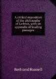 Portada de A CRITICAL EXPOSITION OF THE PHILOSOPHY OF LEIBNIZ, WITH AN APPENDIX OF LEADING PASSAGES