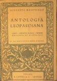 Portada de ANTOLOGIA LEOPARDIANA : CANTI - OPERETTE MORALI - PENSIERI - ZIBALDONE ED EPISTOLARIO