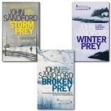 Portada de JOHN SANDFORD LUCAS DAVENPORT PREY COLLECTION 3 BOOKS SET, BROKEN PREY, STORM PREY, WINTER PREY