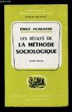 Portada de BROCHÉ - LES RÈGLES DE LA MÉTHODE SOCIOLOGIQUE
