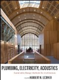 Portada de PLUMBING, ELECTRICITY, ACOUSTICS: SUSTAINABLE DESIGN METHODS FOR ARCHITECTURE 1ST EDITION BY LECHNER, NORBERT M. (2011) HARDCOVER