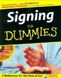 Portada de SIGNING FOR DUMMIES 1ST BY PENILLA II, ADAN R., TAYLOR, ANGELA LEE (2003) PAPERBACK