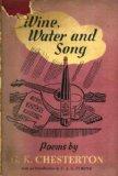 Portada de WINE, WATER AND SONG