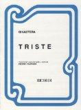 Portada de GINASTERA A. - TRISTE PARA VIOLIN Y PIANO (FOURNIER)