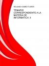 Portada de TEMARIO CORRESPONDIENTE A LA MATERIA DE INFORMATICA  II